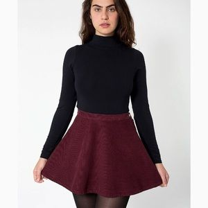 American apparel corduroy merlot circle skirt
